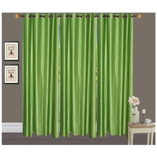 Geo Nature HOME DCOR Eyelet door Six Curtains 4X7 (CUR105)