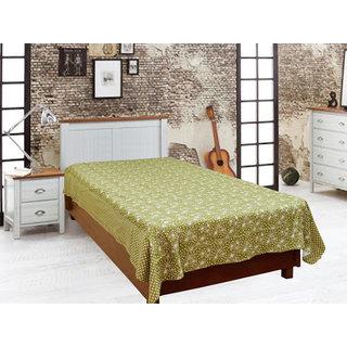 Akash Ganga Green Single Diwan Bedsheet (Diwan11)