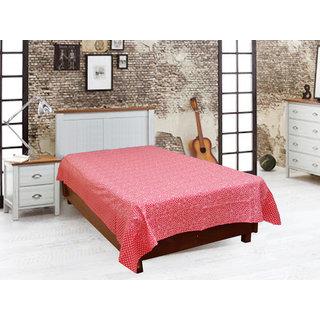 Akash Ganga Red Single Diwan Bedsheet (Diwan15)