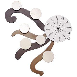 Selfie brown color 6 photo wooden wall clock