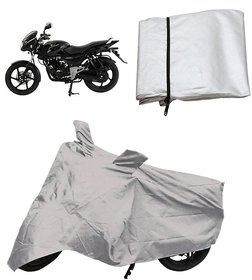 Bike cover for pulser 150 with mirror pocket matty (Silver)