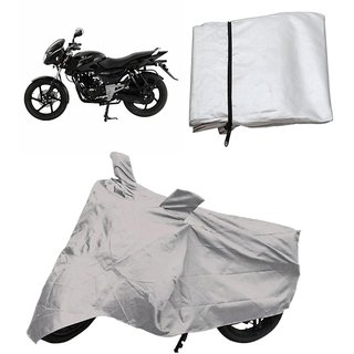 love4ride Bike cover for pulser 150 with mirror pocket matty (Silver)