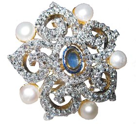 AARZOOL AD Ring with beautiful combination of Pearls.