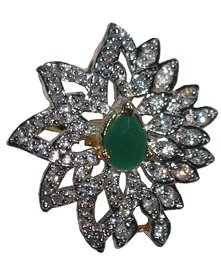 AARZOOL AD Ring with beautiful Leaf Pattern.