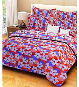 HandloomWala Cotton Double Bed Sheet With 2 Pillow Covers