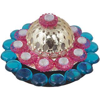 Sukkhi Designer Diyaa Candle In Blue, Pink And Yellow