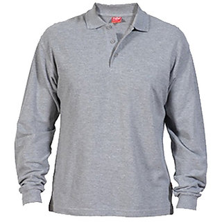 Buy Full Sleeve Collar T Shirts Grey Colour Online   ₹650 from ... d6bc524bf