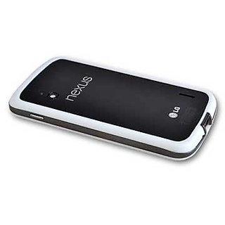 premium selection 643bf 89b8d White Bumper Case Cover For Google Nexus 4 Cover Case for Nexus 4 Bumper  Case
