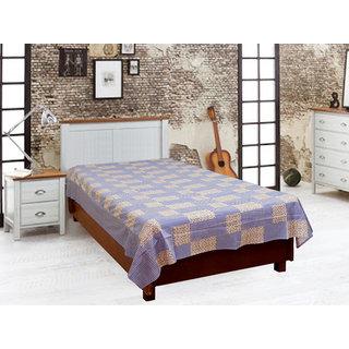 Akash Ganga Purple Single Diwan Bedsheet (Diwan16)