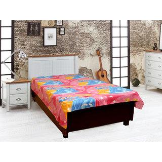 Akash Ganga Multi-color Single Diwan Bedsheet (Diwan19)