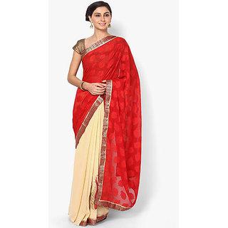 Pranavi Creation Self Design Gadwal Synthetic Georgette Sari..
