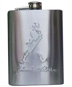 Johnnie Walker Stainless Steel Hip Flask - 8 oz Best gift for Party,Marriages