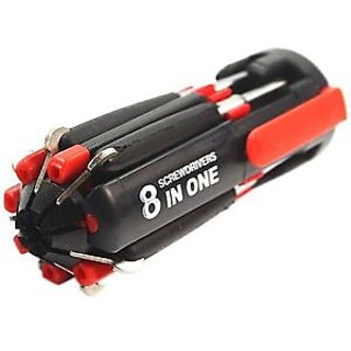 8 In 1 Multi-Screwdriver torch / tool kit /screwdriver with torch