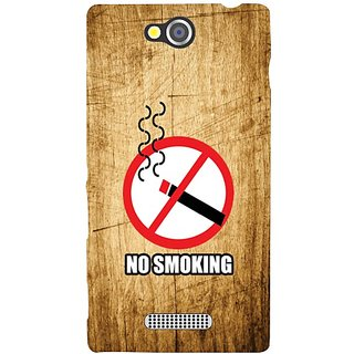 Sony Xperia C No Smoking