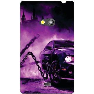 Nokia Lumia 625 Purple Car