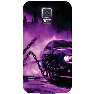 Samsung Galaxy S5 Purple Car