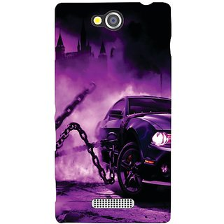 Sony Xperia C Purple Car