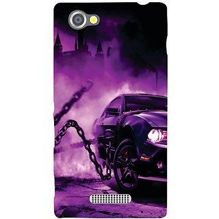 Sony Xperia M Purple Car