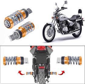 Capeshoppers Spring Coil Style Bike Foot Pegs Set Of 2 For Bajaj Avenger 220-Golden