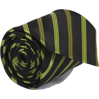 ST MARC Black and Green Silk Stripes Tie (MS68205623)