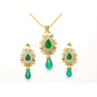 Viva Josephine Designer Pendant Set with Gold Plating for Women