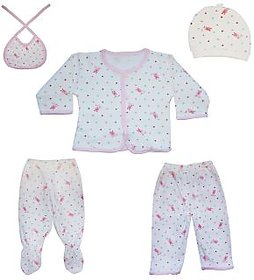 UPSIDE DOWN BABY CLOTHES- 5 PIECE SET FOR 0-3 MONTH BABY