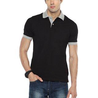 37d340d7c4a Buy Hot Pepper Mens Cotton Premium Polo T-shirt - Black Color Online ...