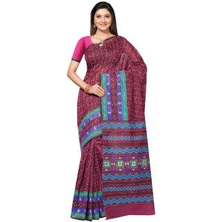 Fabdeal Purple Colored Cotton Printed Saree (VIRSR1014MR)