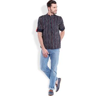 Svanik MenS Fashion Printed Short Kurta