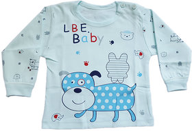 UPSIDE DOWN BABY CLOTHES-IMPORTED COTTON TSHIRT WITH DOGGY PRINT
