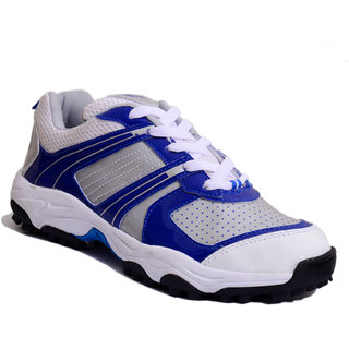Firefly Full Rubber Cricket Shoe Warrior In Blue  White