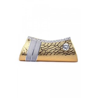 BRENDON U.K GOLDEN DESIGNER CLUTCH
