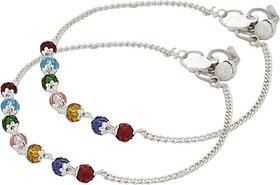 Beadworks Multi Colour Beaded Anklet