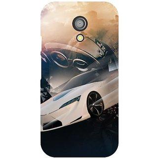 Motorola Moto G (2nd Gen) white car
