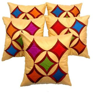 Car Vastra Beige Geometric Cushion