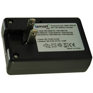 Ismart Camera Battery Charger For Np-Fm50, Np-Fm70, Np-Fm90 Black
