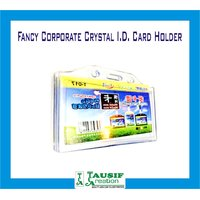 New Fancy Crystal I.D. Card Holder For Corporate / Office Employee (Set Of 3 Pc)