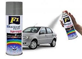F1 Silver Car Multi Purpose Lacquer Spray Paint Grey 450Ml