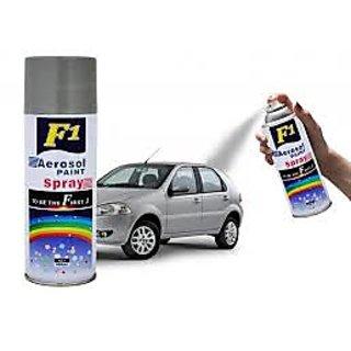 F1 ORIGINAL Car Multi Purpose Lacquer Spray Paint silver Grey 450Ml