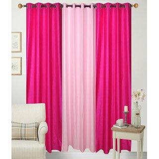 Geo Nature Eyelet Pink Baby Door Three Curtains 4X7 CR069