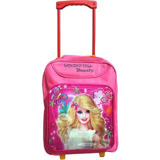 Butterfly Waterproof Princess Barbie Pink School Trolley Backpack
