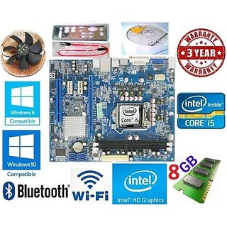 i5 MOTHERBOARD COMBO Kit INTEL+CHIPSET H55+CORE i5 PROCESSOR +8  GB RAM +CPU FAN Motherboards