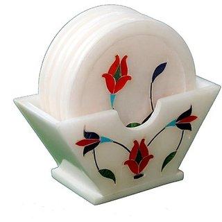 Lord Krishna Fashion Marble Inlay Work Tea Coaster