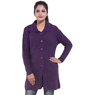 SAACHI Purple Womens Casual Sweater