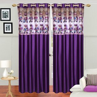 Crusty Contemopary Superior Fancy Purple Long Door curtain (Pack of 2)