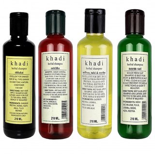 Khadi Shamapoo Combo pack of 4 ( 840ML)
