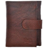 Fashno Tri-Fold Pure Leather Brown Wallet (FBR- 3F)