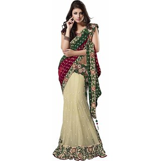 Jute Star Multi Color Cotton Saree