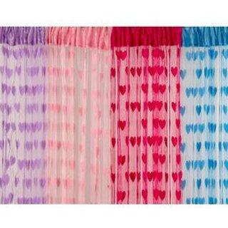 Shiv Kirpa Polyester Heart Curtain Set Of 4