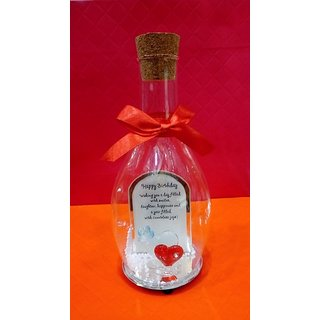 Birthday Gift Bottle With Happy Birth Day Quotation
